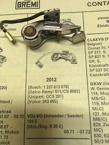 NOS 1 Unterbrecher Zündkontakt VOLVO 164 E Motor B 30 E Bosch 1 237 013 078 NEU
