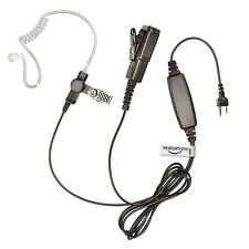 ICOM Radio Earpiece (Two Wire Heavy Duty Kevlar Headset with Large PTT)