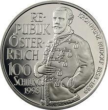 Einzelstück polierte Platte Münzen aus Österreich