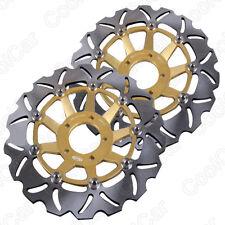 Gold Front Brake Disc Rotors For Suzuki GSF BANDIT 250 400 1200 GSX 1200 1999-03
