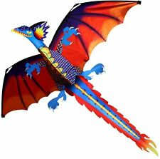 Kite for Kids Dragon Large Single Line With Tail Outdoor Game Toy Easy Huge New