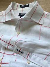 Linen Check Long Sleeve Casual Shirts & Tops for Men GANT