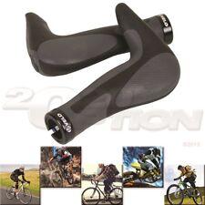Black/Gray Gel Bicycle MTB Mountain Bike Horn Ergonomic Grips Handlebar Comfort