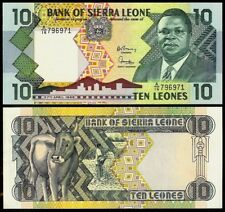 SIERRA LEONE 10 LEONES 1988 P15 UNCIRCULATED