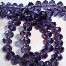 17-5 Crystal Loose Beads 6MM 49PCS Jewelry Beads DIY Purple Free Shipping