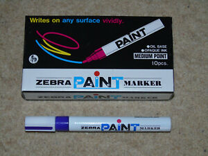 10 x PURPLE PAINT PENS FROM ZEBRA NEW SEALED PERFECT SIGNING MEET & GREET WWE