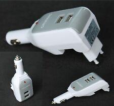 2 in 1 Dual USB Ladegerät mit Netzstecker Autoladegerät KFZ Stecker Adapter Haus