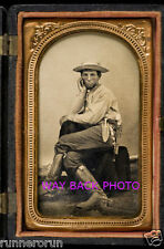 """REPRINT OF 1860's PHOTO - COWBOY IN FEMININE POSE - GAY INTEREST - 4"""" by 6"""""""