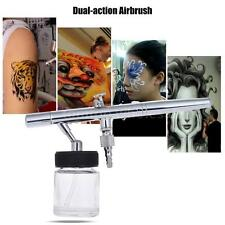 Siphon Feed Dual-action 0.35mm Airbrush Air Brush Kit w/2 Color Cups Tattoo R1L1