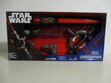 star wars ELECTRONIC SPIN ACTION LIGHTSABER -SPADA LASER con luci e suoni Nuovo