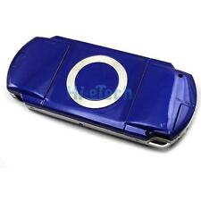 New Full Housing Case Cover Faceplate Front + Back + Buttons For PSP 1000 Blue