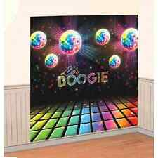 Disco Fever 70's Scene Setter Retro Theme Party Decoration Wall Decorating Kit