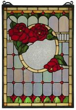 Stained Glass Panel for Windows Tiffany Style Suncatchers Victorian Roses Window