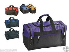 "1 Dozen Duffle Bag Bags Travel Size Sports Gym Blank 17"" Wholesale Bulk Lot"
