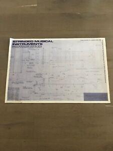 1978 Stringed Musical Instruments Los Angeles Exhibit Poster La Habra Music Box