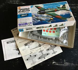 HASEGAWA 1/72 - MITSUBISHI A6M5 ZERO - JAPAN 1980 - NEUF