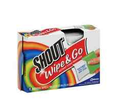 Shout Wipe - Go Instant Stain Remover Wipes 12 ea (Pack of 2)