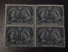 CANADA  Jubilee 1897 Scott #58 MNH F 15c Block of 4
