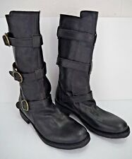 NEW FIORENTINI + BAKER black leather triple strap ETERNITY boots size 40