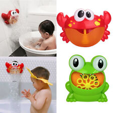 2Pcs Kids Bath Toy Fun Bath Bubble Maker Pool Swimming Bathtub Soap Machine