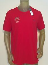 NWT MENS POLO RALPH LAUREN TEE SIZE XL RED COTTON PRL LOGO POLO FLAG S/S NEW