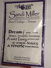 DREAM WORD COLLAGE Sandi Miller Art Unmounted Rubber Stamp Wild Fancy Beauty New