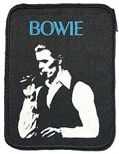 David Bowie On Stage Old Og Vtg Early 1980`s Printed Patch Sew on Cloth Badge