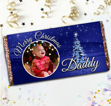Personalised Merry Christmas Chocolate Bar N20 Girls Boys Stocking Filler Gift