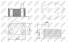 Oil Cooler, engine oil NRF 31298