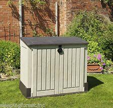 Garden Storage Box Outdoor Bin Holder Shed Patio Yard Backyard Balcony Cabinet