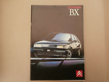 Citroen BX brochure 1989 .