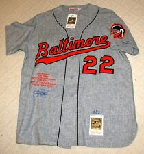 Jim Palmer Signed Mitchell & Ness Baltimore Orioles Stat Jersey Steiner 3/22
