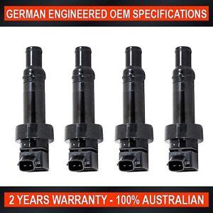 4x OEM Quality Ignition Coil for Hyundai Veloster SR Turbo 1.6L T-GDi G4FJ