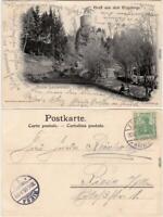 Zöblitz Partie an der Ruine Lauterstein Ansichtskarte Erzgebirge 1905