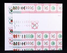 Vintage Stationery Current Christmas Just-A-Note Set 12 Notes & 12 Seals