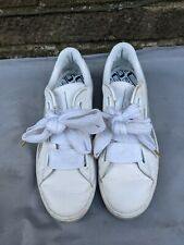 Puma Basket Heart Explosion UK 7 ladies silver White trainers large laces