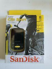 SanDisk Clip Sport 8GB Portable Digital MP3 Player - Yellow