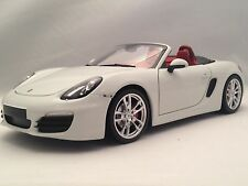 Minichamps Porsche Boxster S (981) White w/ Red Interior 2012 Diecast Model 1/18
