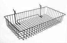"24x12"" Metal Gridwall Basket Wire Holder Slatwall Hanging Basket Dump Bin"