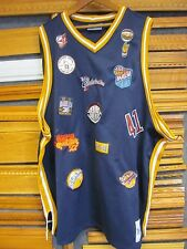 Harlem Globetrotters Official Multi Patch Jersey by Platinum Fubu 4XL NEW