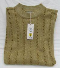 LADIES MARKS & SPENCER PER UNA GOLD GLITTER LONG SLEEVE OPEN KNIT JUMPER SIZE 16