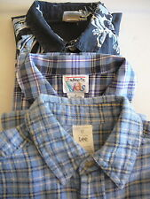 Boys Shirts (3) Sz 6 Lee Old NavyTalbots Kids Blue Short  Long Sleeve 100% Cotto