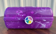 Caboodles On the Go Girl Classic Makeup Case &  Mirror Purple Marble Brand New