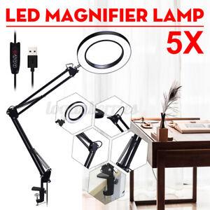 Flexible 5X USB LED Magnifying Glass Illuminated Magnifier With LED light