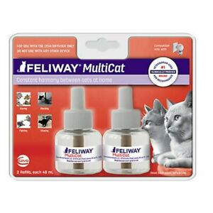 Feliway MULTICAT Diffuser - (1) 2 ct 48 mL 30 Day Refills = 60 days Calming