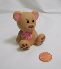 Fisher Price Little People TEDDY BEAR w/ PINK BOW Easter Christmas Stuffed Bear