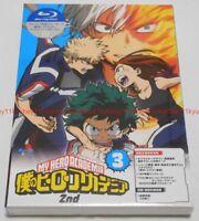 Boku no My Hero Academia 2nd Vol.3 Limited Edition Blu-ray CD Booklet Card Japan