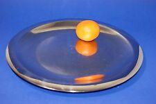 2 x Edelstahl Tablett Teller Platte /  32 cm
