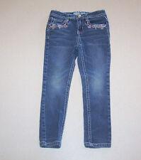 Girl's RVT Skinny Embroidered Blue Denim Jeans 4