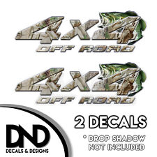 Buck Camo Bass 4x4 Wraps Off Road Decals 2 Pk Sticker Ford Chevy truck - D&6BF